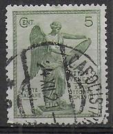 ITALIA REGNO - VITTORIA USATO CENT.5 - DENT. 14X13,25 - - ANNULLO CAPODISTRIA - 24.XII.21 (SS 199b - Yv113 - Mi 144C) - Oblitérés