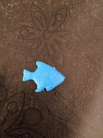 Feve ? Plastique Bleu POISSON - Dieren