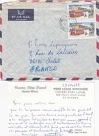 LETTRE AVEC CORRESPONDANCE. FULL LETTER. MAURITIUS. CENTRE PERE LAVAL PORT LOUIS PORT LOUIS - Maurice (1968-...)