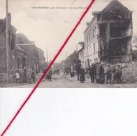 CP 62  -  COURRIERES  -  Après La Guerre   - La Rue D'Harnes - Unclassified
