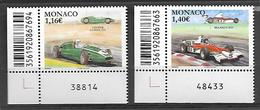 Monaco 2020 -  Yv N° 3227 & 3228 ** - Cooper Climax T53 Et Mac Laren M23 - Neufs