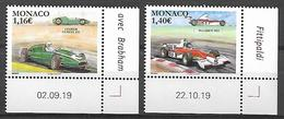 Monaco 2020 -  Yv N° 3227 & 3228 ** - Cooper Climax T53 Et Mac Laren M23 - Unused Stamps