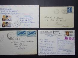 Marcophilie - USA Etats Unis D'Amérique - Lot De 4 Lettres Enveloppes - Timbres (2632) - Marcophilie