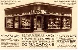 CARTE RARE PUBLICITÉ CONFISEUR LALONDE NANCY - Nancy