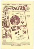 Pub Reclame Programma Programme  Ciné Cinema Bioscoop Majestic Gent Film - Si L'Empereur Savait ça - 1931 - Publicité Cinématographique
