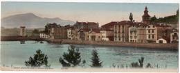 Saint Jean De Luz : Carte Panoramique Double Format : Ciboure Et La Rhune (Edit. ND Phot. N°1725) - Saint Jean De Luz