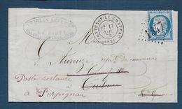 Vosges - G.C. 1547 Et Cachet Type 17  FONTENOY LE CHATEAU - Storia Postale