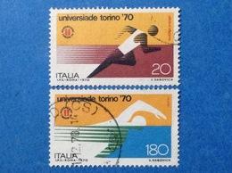 1970 ITALIA UNIVERSIADE TORINO FRANCOBOLLI USATI STAMPS USED - 6. 1946-.. Repubblica