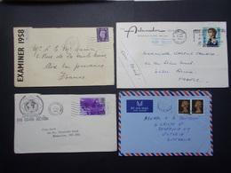 Marcophilie - Royaume Uni & Hong Kong - Lot De 4 Lettres Enveloppes - Timbres (2636) - Marcophilie