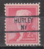 USA Precancel Vorausentwertung Preo, Locals New York, Hurley 839 - Vereinigte Staaten