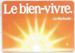 Autocollant , LA REDOUTE , Le Bien Vivre , Verso : Bon De Participation , Jeu , Gagnez La Route Du Soleil ,  2 Scans - Stickers
