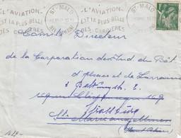 Env Affr Y&T 432 Obl ST MALO Du 8 VII 40 Adressée à Strassburg Avec Censure - Guerre De 1939-45