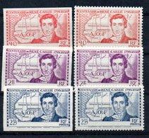 E1 Superbes Et RaresCôte D'Ivoire N° 141a+b à 143a+b ** Luxe. Côte Yver Et Tellier 2020 : 1258 Euros. A Saisir !!! - Unused Stamps