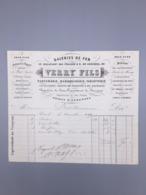 PARIS GALERIES DE FER, VERRY FILS PARFUMERIE, MAROQUINERIE,TABLETTERIE 1869 - France