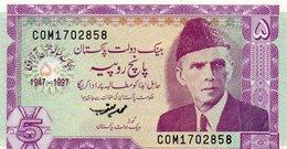 PAKISTAN 5 RUPEES 1997  P-44  Unc - Pakistan