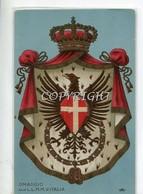 """S.A.R.-RE_REALI_Famiglia Reale_ R.UMBERTO-VITT.EMANUELE-CARICATURA-""""OMAGGIO ALLE M.M. D'ITALIA-'"""" - Case Reali"""