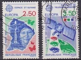 Europa - FRANCE - Espace Et Guyane, Satellite De Télévision - N° 2696-2697 - 1991 - Oblitérés