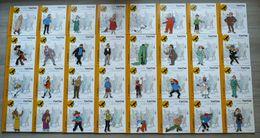 42 Livres Figurines TINTIN - Avec 33 Passeports - MUSKAR CASTAFIORE DUPONT DUPOND TOURNESOL MILOU ALCAZAR Livre - Tintin