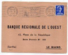 1958--flamme  -VILLEFRANCHE SUR SAONE-69..Vins,Tissus De Coton  .....tp Marianne De Muller.......à Saisir - Postmark Collection (Covers)