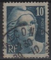 FR 1437 - FRANCE N° 726 Obl. Marianne De Gandon - 1945-54 Marianne Of Gandon