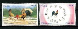 LAOS 2005 N° 1578/1579 ** Neuf MNH Superbe Année Lunaire Du Coq Faune Oiseaux Poule Animaux Du Zodiaque Birds - Laos