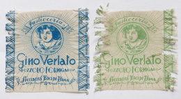 Pubblicità 2 Carte Confezione Epoca Paticceria Gino Verlato - Pozzolo Formigaro - Publicités