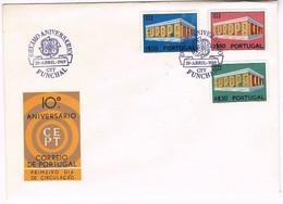 Portugal, 1969, FDC Europa CEPT, Carimbo Do Funchal - FDC