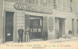 J75 - 13 - MARSEILLE - Bouches-du-Rhône - Vins & Spiritueux - Henri Raphel - 69, 71 Rue De La Loubière - Timone, Baille, Pont De Vivaux