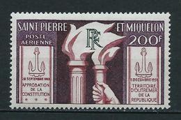SAINT PIERRE Et MIQUELON 1959 . Poste Aérienne N° 26 . Neuf  * (MH) . - Unused Stamps