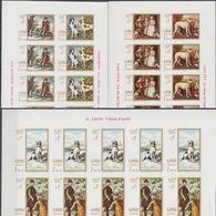 Ajman 10.06.1968 IMPERF SHEETS Mi # 271-76 B; Paintings, Hunting Dogs, Velazquez, Van Dyck, Etc MNH OG - Otros