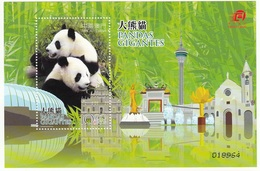 CHINA 2010 MACAU GIGANTES PANDA U/M MNH   MS  MNH - Nuevos