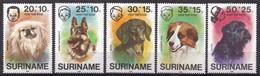 Republiek Suriname - Kinderzegels - Honden - MNH - Zb 43- 47 - Suriname