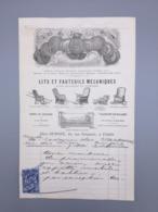 PARIS LITS ET FAUTEUILS MACANIQUES CHEZ DUPONT, 1880 - France