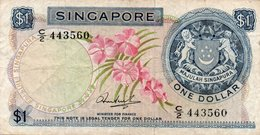 SINGAPORE 1 DOLLAR 1971 P-1c CIRC. - Singapore