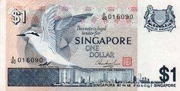 SINGAPORE 1 DOLLAR 1976 P-9   AUNC  SERIE A/40  016090 - Singapore