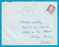 Maury France 1263I - 0,25 Marianne De Decaris  - O Cachet à Date Saïda (Algérie) 8 Août 62 - Algérie (1924-1962)