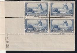 France Bloc De Quatre Coin Daté Du 311 Sans Charniére** De 12 9 1936 - Dated Corners