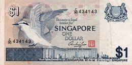 SINGAPORE 1 DOLLAR 1976 P-9  XF  SERIE C/90 434143 - Singapore