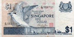 SINGAPORE 1 DOLLAR 1976 P-9  XF  SERIE G/78 562711 - Singapore