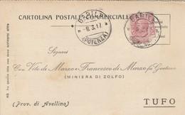 Barile. 1917. Annullo Guller BARILE (POTENZA), Su Cartolina Postale Commerciale - 1900-44 Vittorio Emanuele III