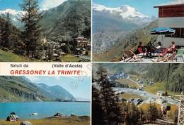Cartolina Gressoney Trinitè Vedute 1985 - Italia