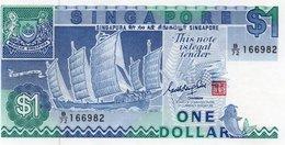 SINGAPORE 1 DOLLAR 1987  P-18  UNC   SERIE B/72 166982 - Singapore