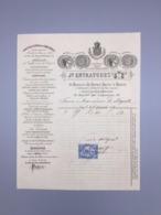PARIS, ENTRAYGUES, COMPTOIR CENTRAL DE COMESTIBLES, 1879 - France