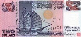 SINGAPORE 2 DOLLARS 1997  P-34  UNC   SERIE GU 822131 - Singapore