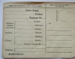 Feldpost Vordruckumschlag Ca. 1860 1870 Sauber Ungebraucht (68211) - Militaria