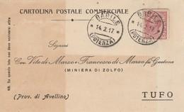 Barile. 1917. Annullo Guller BARILE (POTENZA), Su Cartolina Postale. - 1900-44 Vittorio Emanuele III