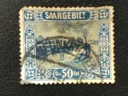 Allemagne Sarre 1922 DE SL 94 River Traffic Saarbrucken / French Currency - Used Stamps