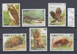 96K147 / 1982 - Michel Nr. 2691-2696 Used ( O ) Prehistoric Animals Ornimegalonyx Oteroi Aquila Borrasi  , Cuba Kuba - Kuba