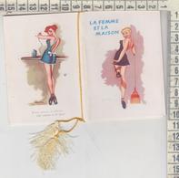 Calendarietto Salone Barbiere Pin Up  Pinup's 1957 - Calendarios