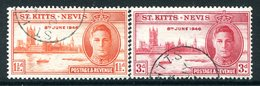 St Kitts & Nevis 1946 Victory Set Used (SG 78-79) - St.Christopher-Nevis & Anguilla (...-1980)